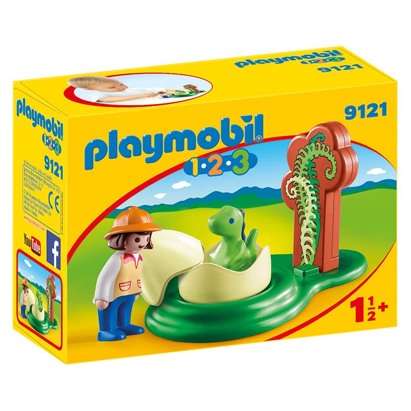 Playmobil 9121 1 2 3 huevo de dinosaurio la caja de for Playmobil dinosaurios